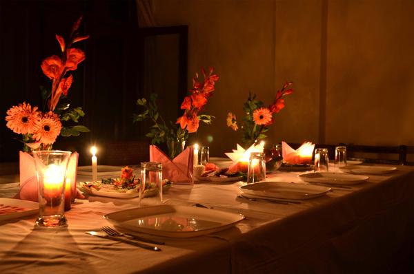 Romantic Candle light dinner - Ashirwad Photos Uttarakhand