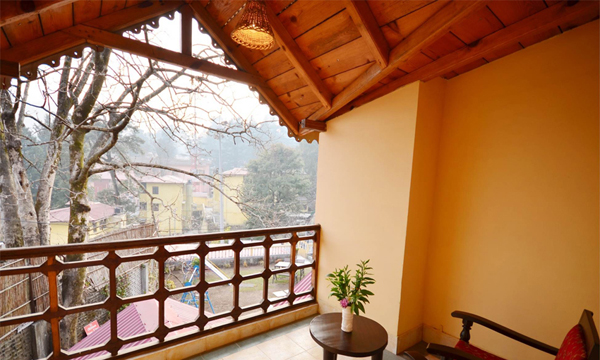 View from balcony rooms the pavilion photos uttarakhand for From the balcony