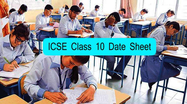 ICSE Class 10 Date Sheet 2021