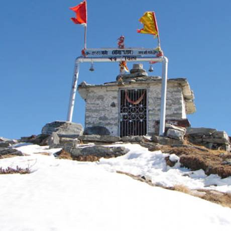 Chandrashila Summit and Temple during winters