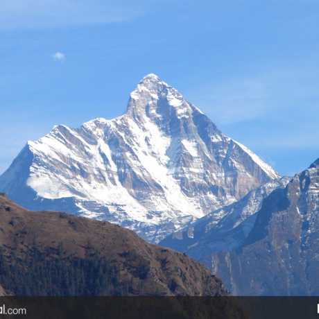 The majestic Nanda Devi Peak from Auli