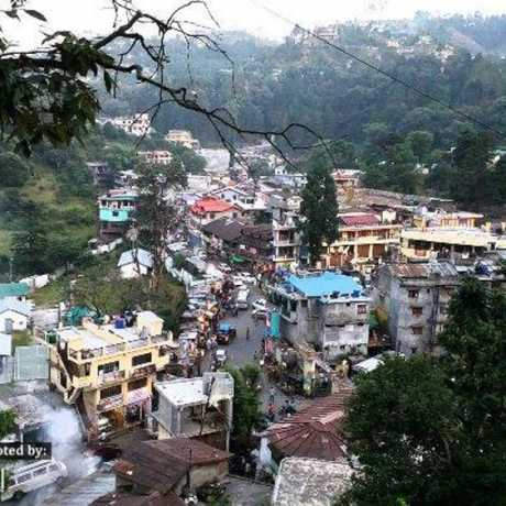 View of Bhowali Town from naini road. It lies close to Ghorakhal, known for Golu Devta temple and Sainik School Ghorakhal.
