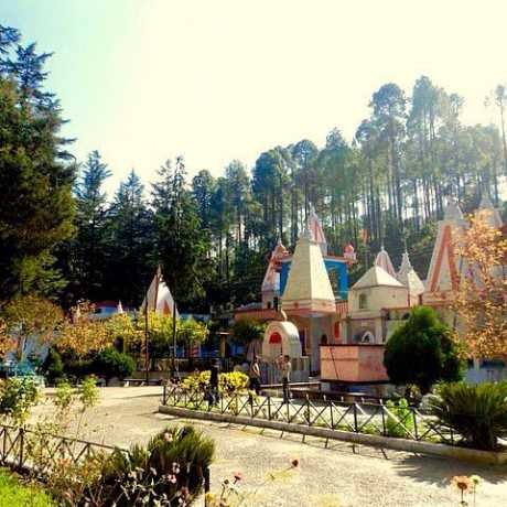 The famous Binsar Mahadev temple in tranquility of nature.