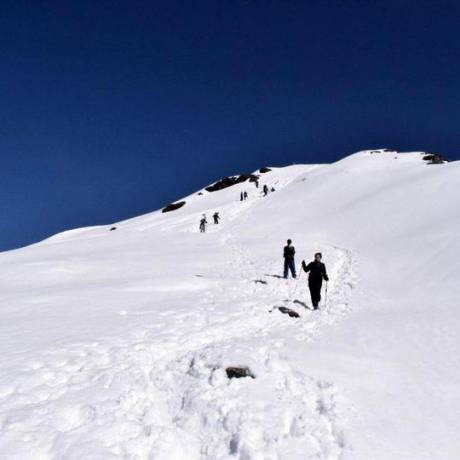 Chandrashila Trek from Tungnath when covered with snow