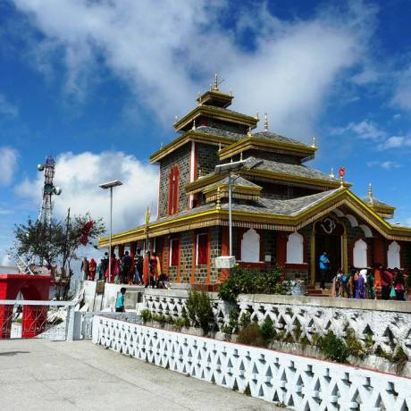 Surkanda Devi is a Hindu temple situated close to the small resort hamlet of Dhanaulti in Tehri District.