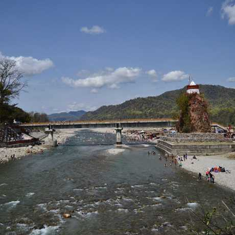 Famous Garjiya Devi Temple located in Ramanagar, Nainital. This Temple is located over a large rock in the Koshi river.