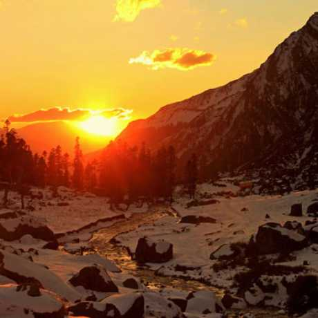 Sunset view from Har Ki Doon Valley