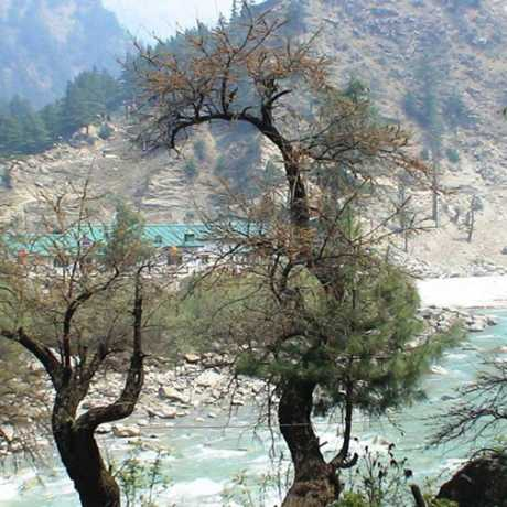 Bhagirathi river and Harsil valle, Uttarakhand.