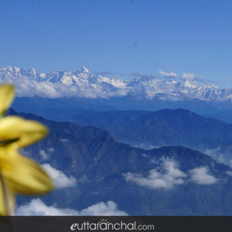 Splendid view of majestic Himalayan peaks from a small yet one of the best hill stations 'Kanatal' which is situated on Mussoorie-Chamba road in Tehri district of Uttarakhand.
