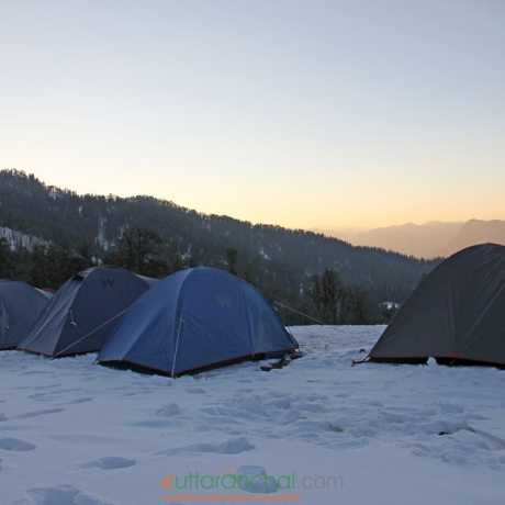 Our tents in Kedarkantha base camp