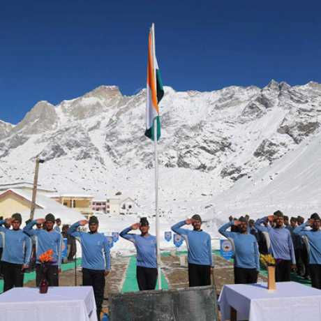 NIM Team celebrating Republic Day in Kedarnath