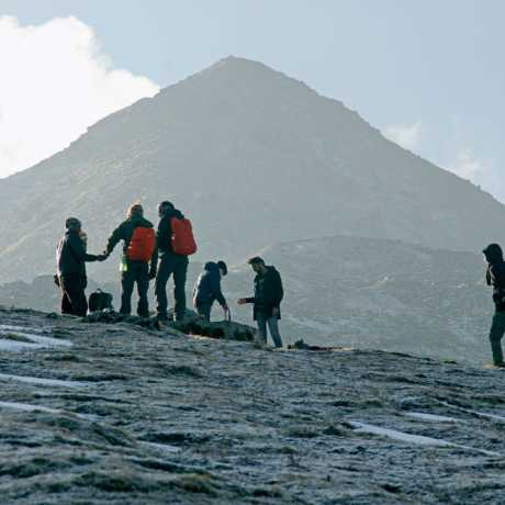Group having lunch during the trek