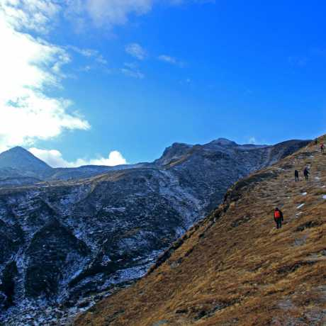 Uphill trail during Kuari Pass Trek