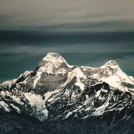 Nanda Devi, 7,816 m (25,643 ft) (Goddess of Bliss) – The highest mountain in Uttarakhand , the second highest mountain in India and the highest entirely within the country(Kangchenjunga being on the border of India and Nepal).