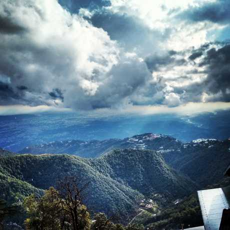 Mystic view of Dehradun Valley from Landour Cantt, Mussoorie.