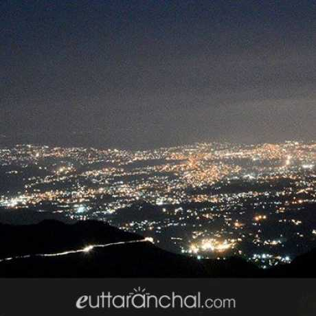 Night view of Dehradun from Mussoorie.