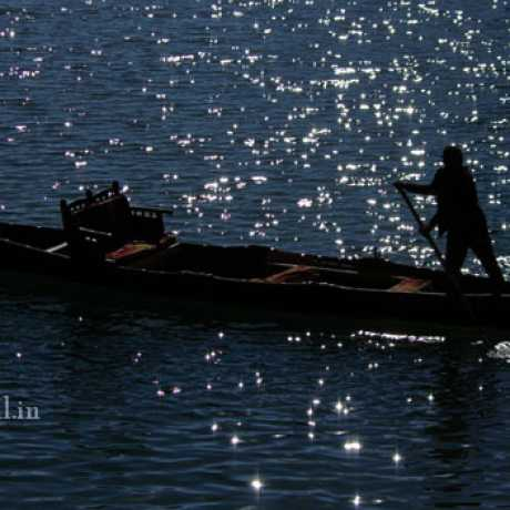 Boatsman on Naini Lake, Nainital.