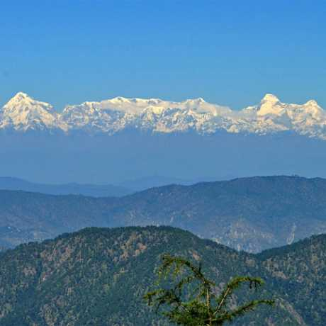 View of Himalayan Peaks from Nainital Snow View Point