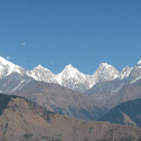 The ever magnificent Panchchuli peaks on clear blue day of winter.