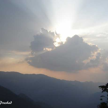 A beautiful sunset in Pithoragarh.