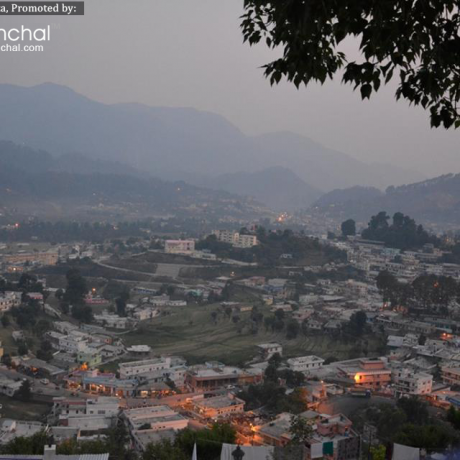 Evening view of Pithoragarh City.