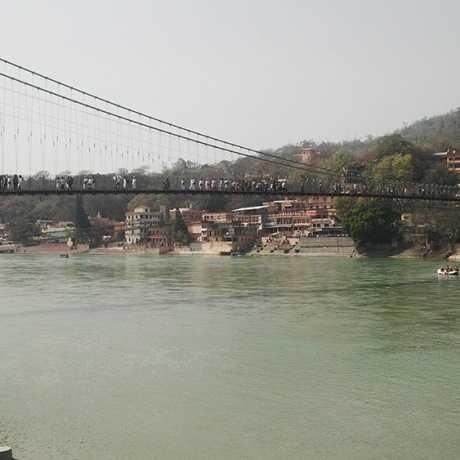 View of Ram jhula in Rishikesh