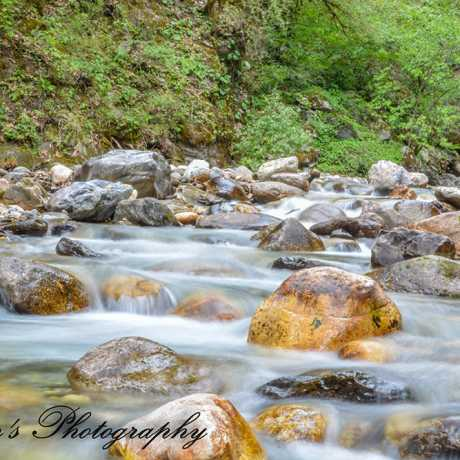 A small river which comes in the middle of Roopkund lake trek.