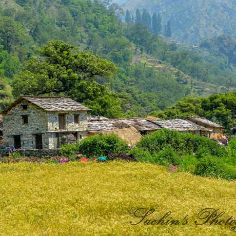 Traditional house of Uttarakhand, (On the way to Roopkund).