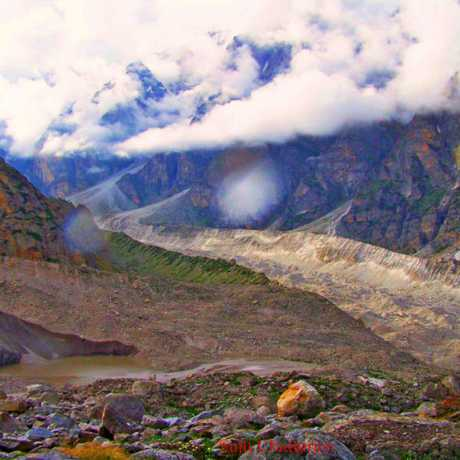 Alkapuri the meeting place of Satopanth glacier & Bhagirathi Kharak glacier