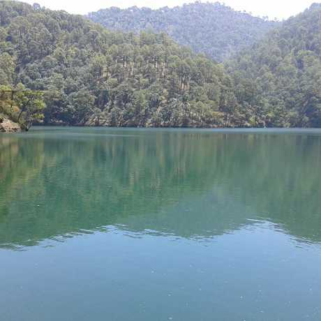 A beautiful view of Sattal lake, Nainital.