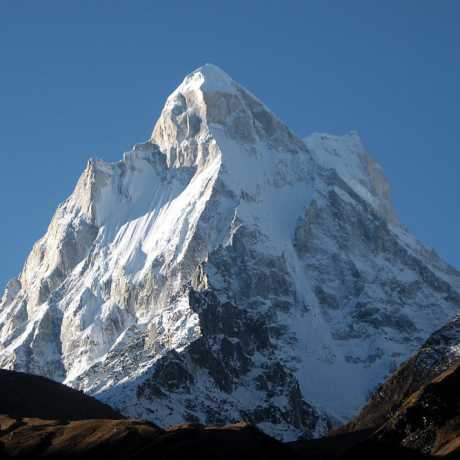 Elegant mountain-flank of Shivling