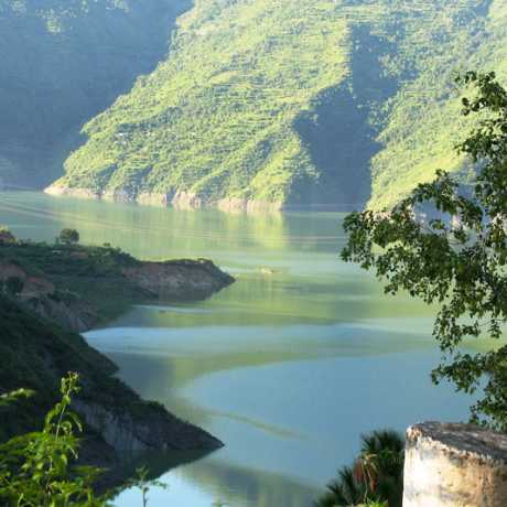52 sq km lake created by Tehri Dam