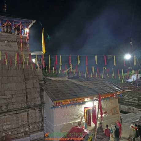 Temple during night