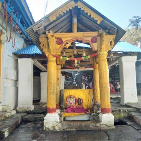 A small temple inside Triyuginarayan temple.