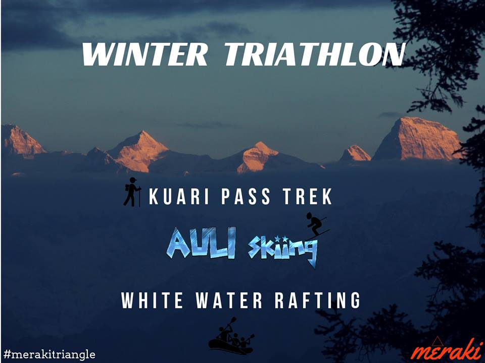 Winter Triathlon - Auli Skiing + Kuari Pass Trek + White Water Rafting Photos