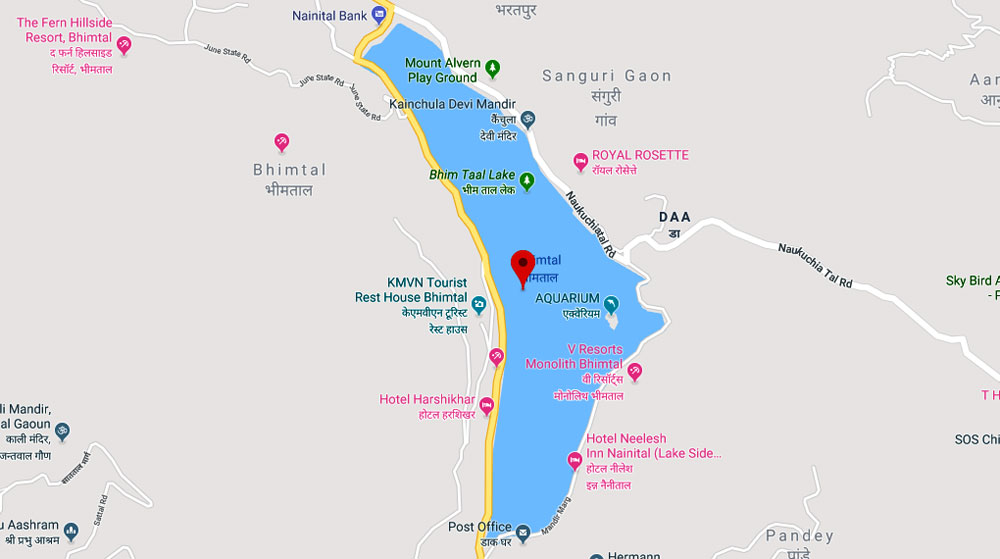 Bhimtal Tourist Map