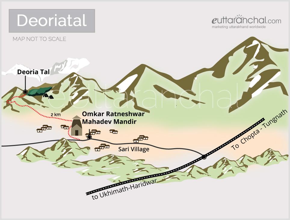 Deoria Tal Tourist Map