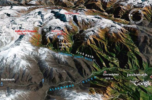 Hemkund Sahib Tourist Map