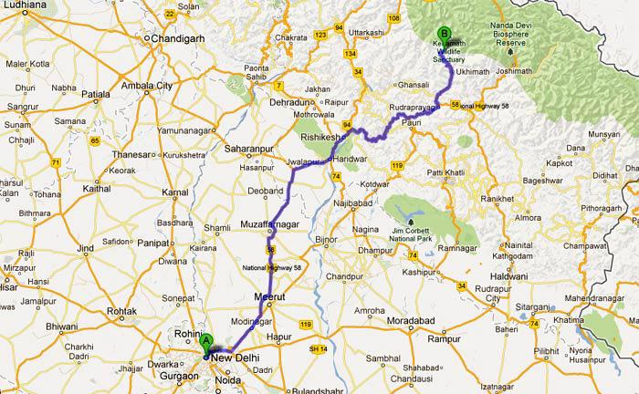 Delhi to Kedarnath Road Route Map Kedarnath Photos Uttarakhand – Road Route Map