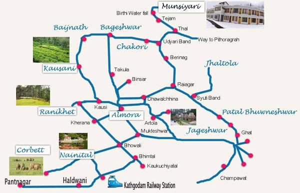 location of Munsiyari in Uttarakhand