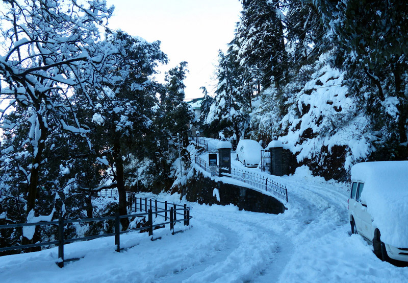 Image result for snow in mussoorie