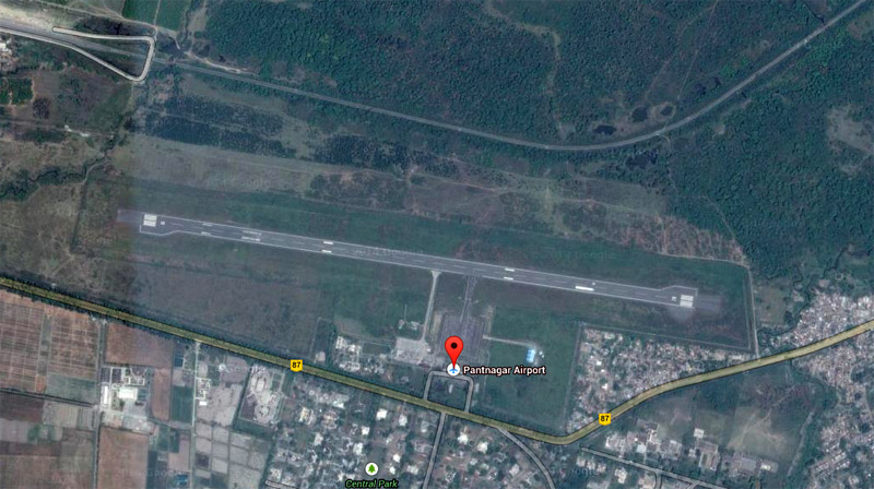 Satellite View Of Pantnagar Airport Google Maps
