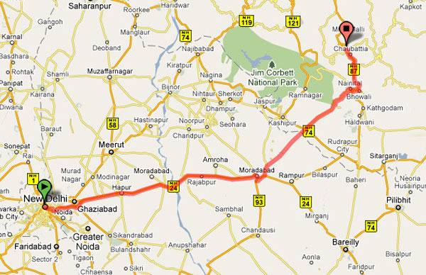 Delhi to Ranikhet Road route map Ranikhet Photos Uttarakhand – Road Route Map